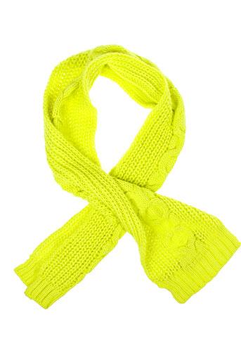 benetton echarpes et gants fille de couleur jaune