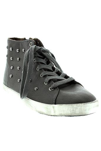 benetton baskets fille de couleur gris