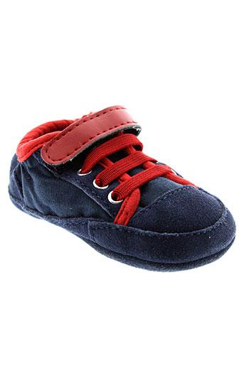 benetton chaussures enfant de couleur bleu