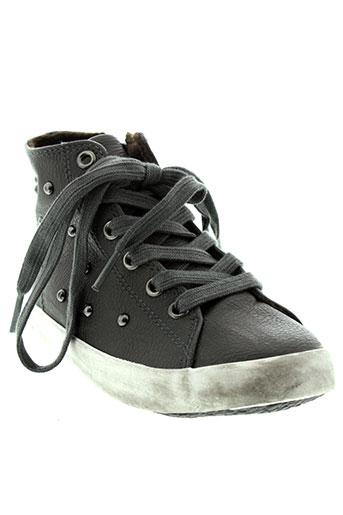 benetton chaussures fille de couleur gris