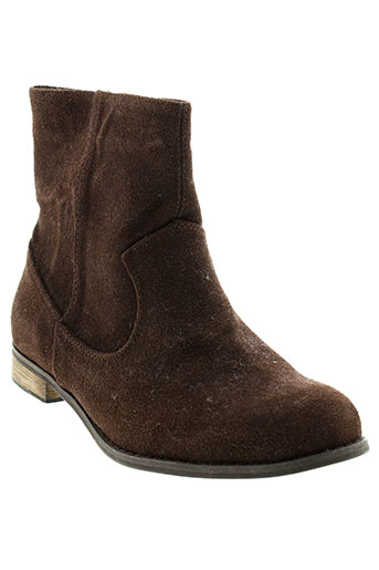 benetton boots fille de couleur marron