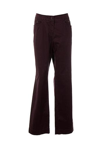 bleu de sym pantalons femme de couleur violet