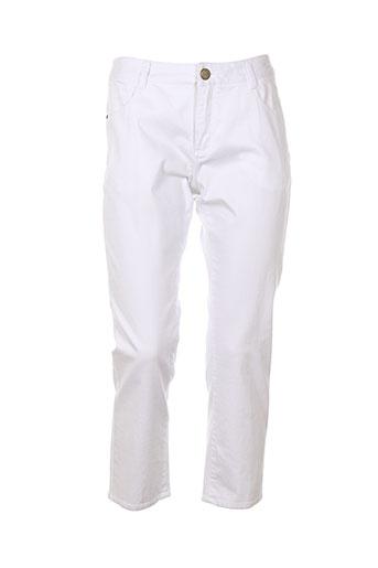 concept k pantacourts femme de couleur blanc