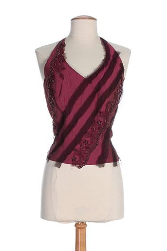 linea raffaelli chemises femme de couleur rouge