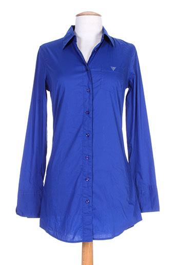 guess tuniques femme de couleur bleu