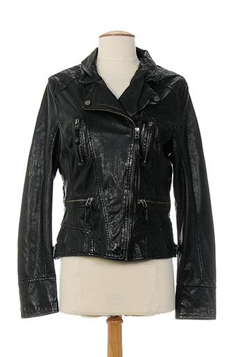 oakwood vestes femme de couleur noir