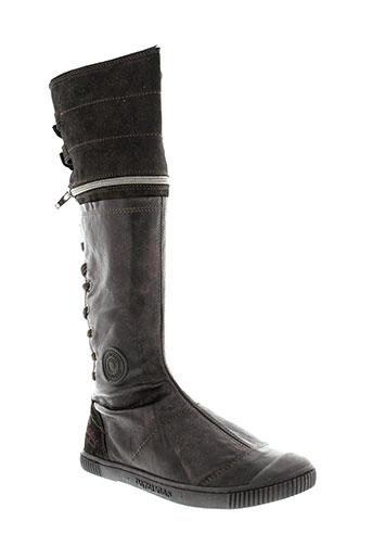 pataugas bottes femme de couleur marron