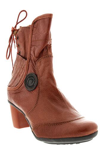 pataugas bottines femme de couleur marron