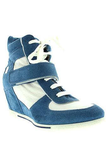 donna et piu baskets femme de couleur bleu
