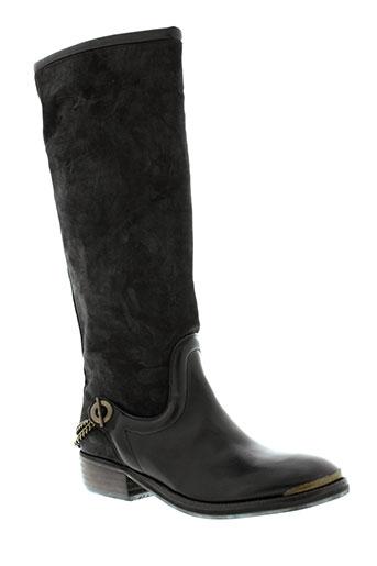 pastelle bottes femme de couleur noir