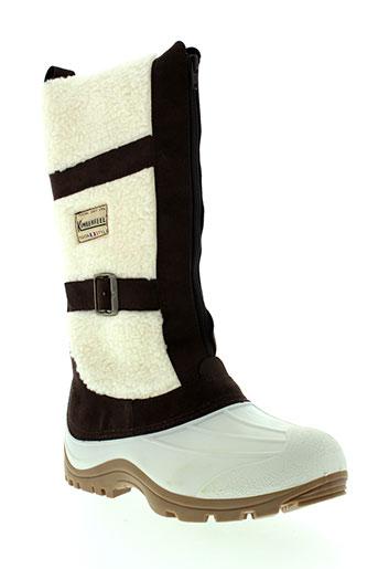 kimberfeel bottes femme de couleur blanc