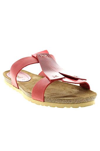 swedi sandales et nu et pieds femme de couleur rouge