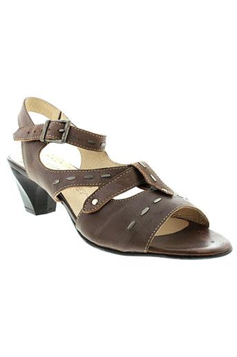 geo et reino sandales et nu et pieds femme de couleur marron