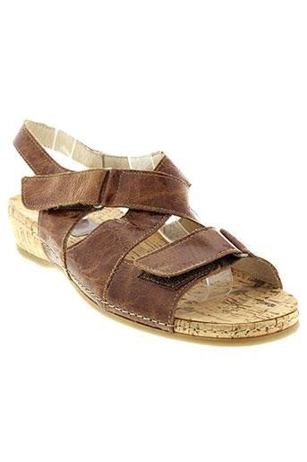 swedi sandales et nu et pieds femme de couleur marron