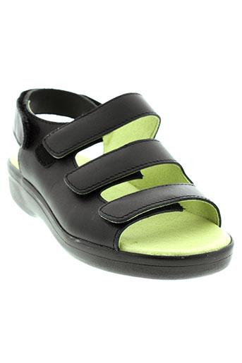 swedi sandales et nu et pieds femme de couleur noir