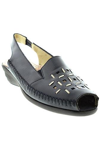 hirica sandales et nu et pieds femme de couleur bleu