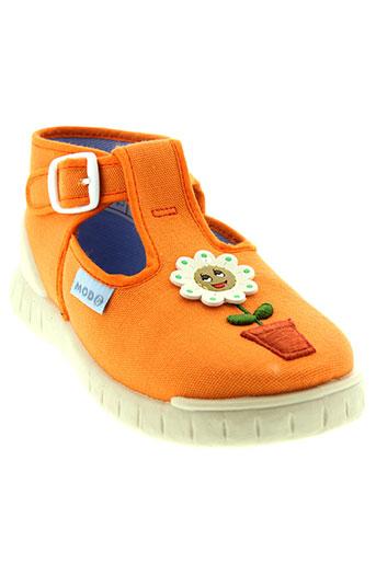 mod et 8 bottillons fille de couleur orange
