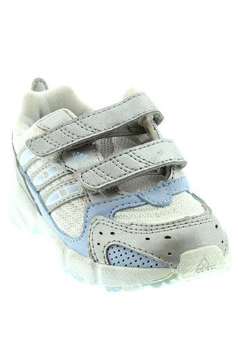 adidas baskets fille de couleur gris