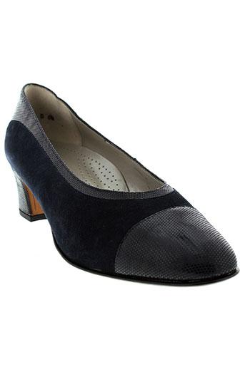 hassia escarpins femme de couleur bleu