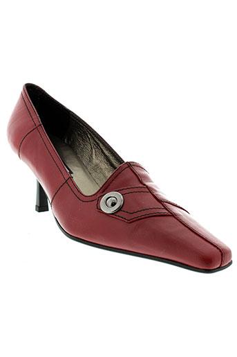 krystel escarpins femme de couleur rouge