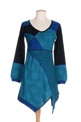 bamboo's robes femme de couleur bleu