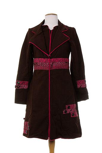 bamboo's manteaux femme de couleur marron