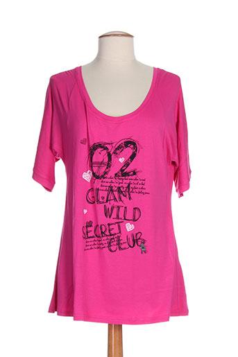 T-shirt manches longues rose FRANCK ANNA pour femme