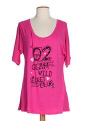 T-shirt manches longues rose FRANCK ANNA pour femme seconde vue