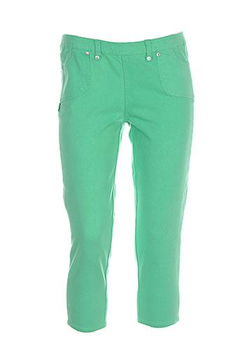 legzskin pantacourts femme de couleur vert