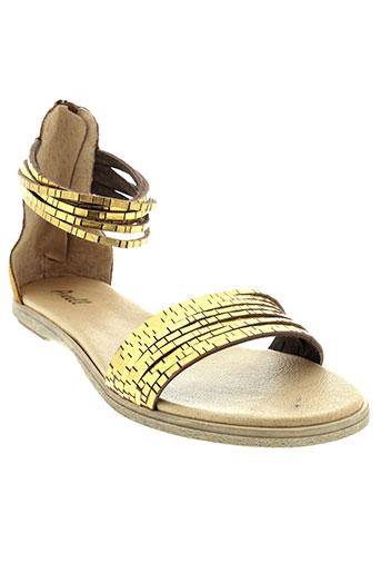 axell sandales et nu et pieds femme de couleur marron