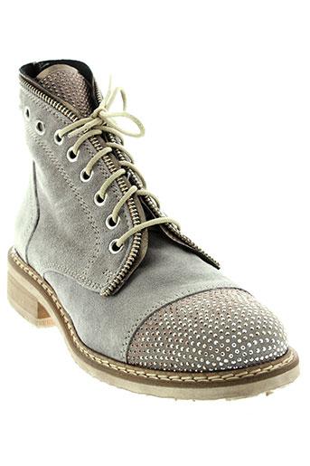 mally boots femme de couleur gris