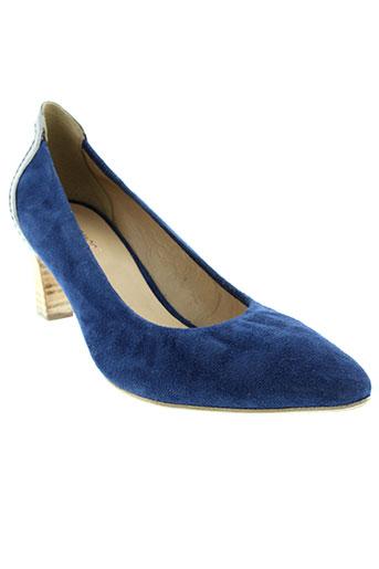 france et mode escarpins femme de couleur bleu