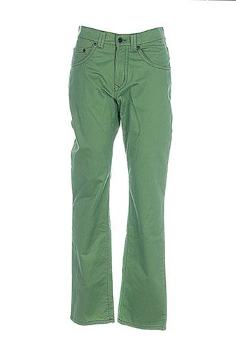 pioneer pantalons homme de couleur vert