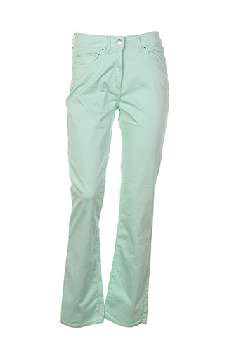 claude de saivre pantalons femme de couleur vert