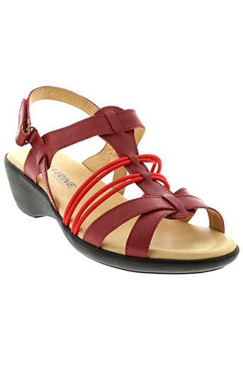 la marine chaussures femme de couleur rouge