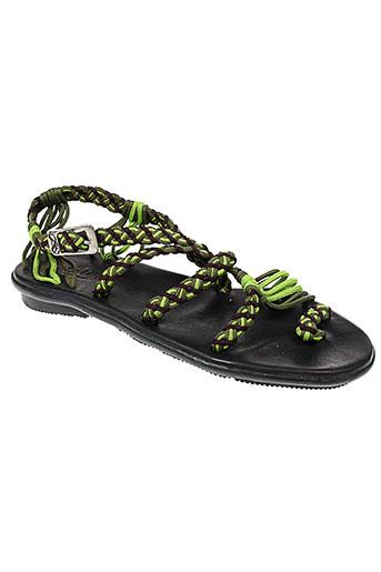 la marine chaussures femme de couleur vert