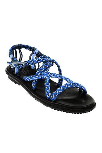 la et marine sandales et nu et pieds femme de couleur bleu
