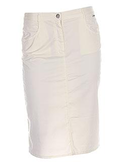 Jupe mi-longue beige THALASSA pour femme