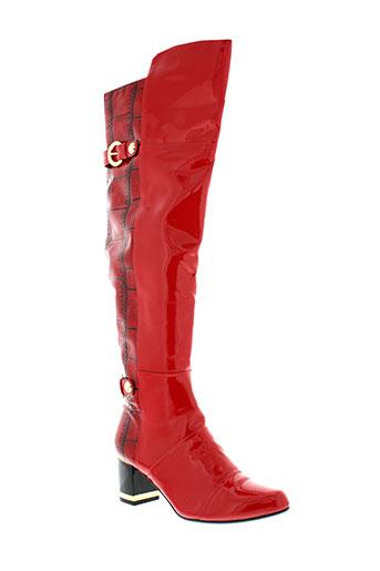 sergio et todzi bottes femme de couleur rouge
