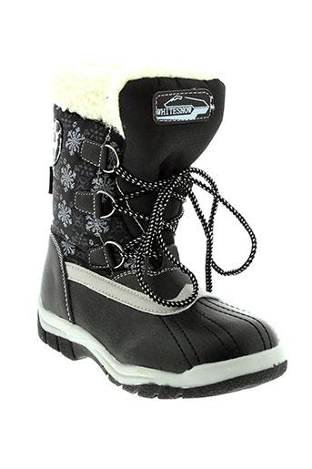 whitesnow boots enfant de couleur noir