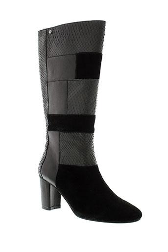 couleur et pourpre bottes femme de couleur noir