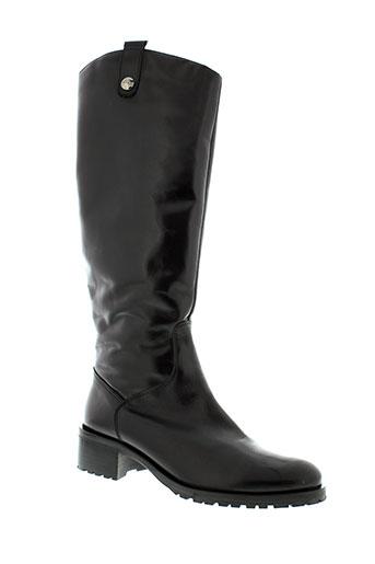 aura et blanc bottes femme de couleur noir