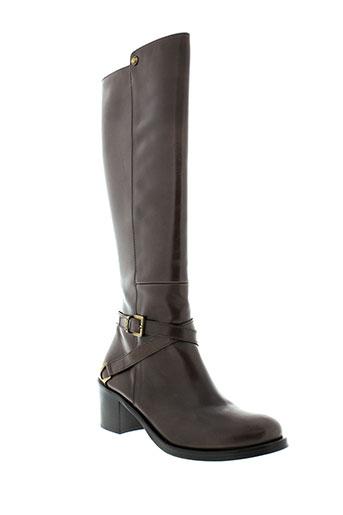 aura et blanc bottes femme de couleur marron
