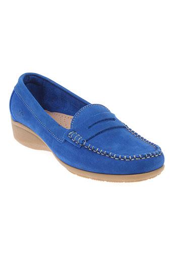 hirica chaussures femme de couleur bleu