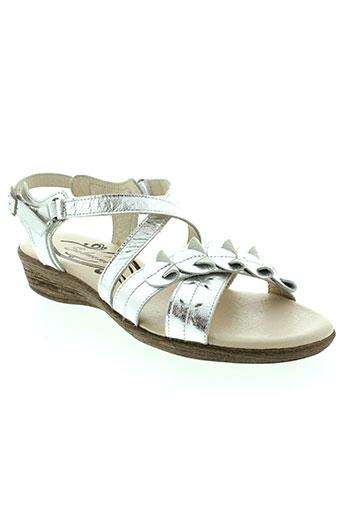 salmone sandales et nu et pieds femme de couleur gris