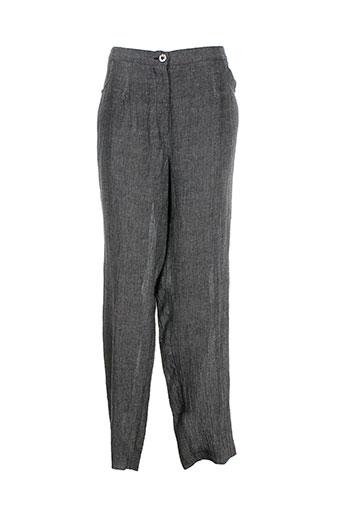 chalou pantalons femme de couleur gris