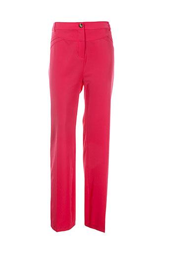 lasagrada pantalons femme de couleur rouge