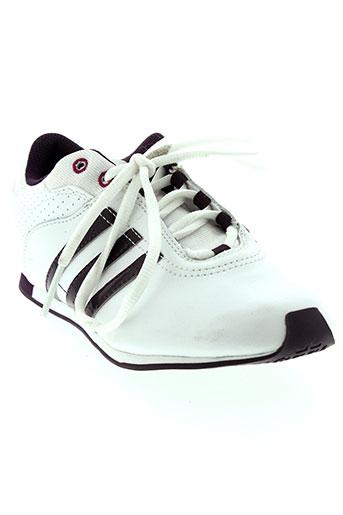 adidas baskets fille de couleur blanc