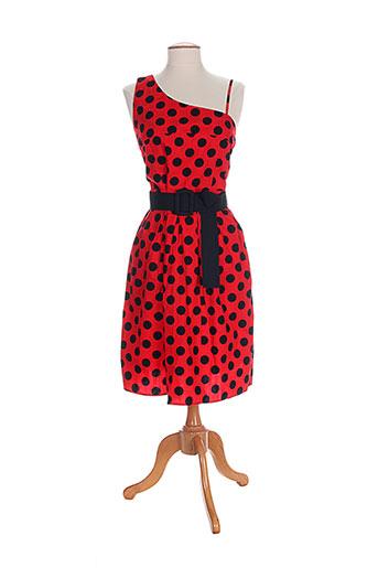 timomo robes femme de couleur rouge