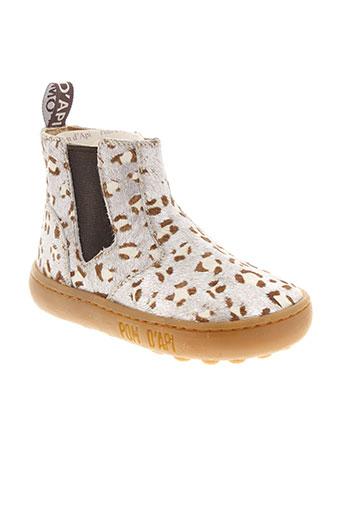 pom et d et api boots fille de couleur gris